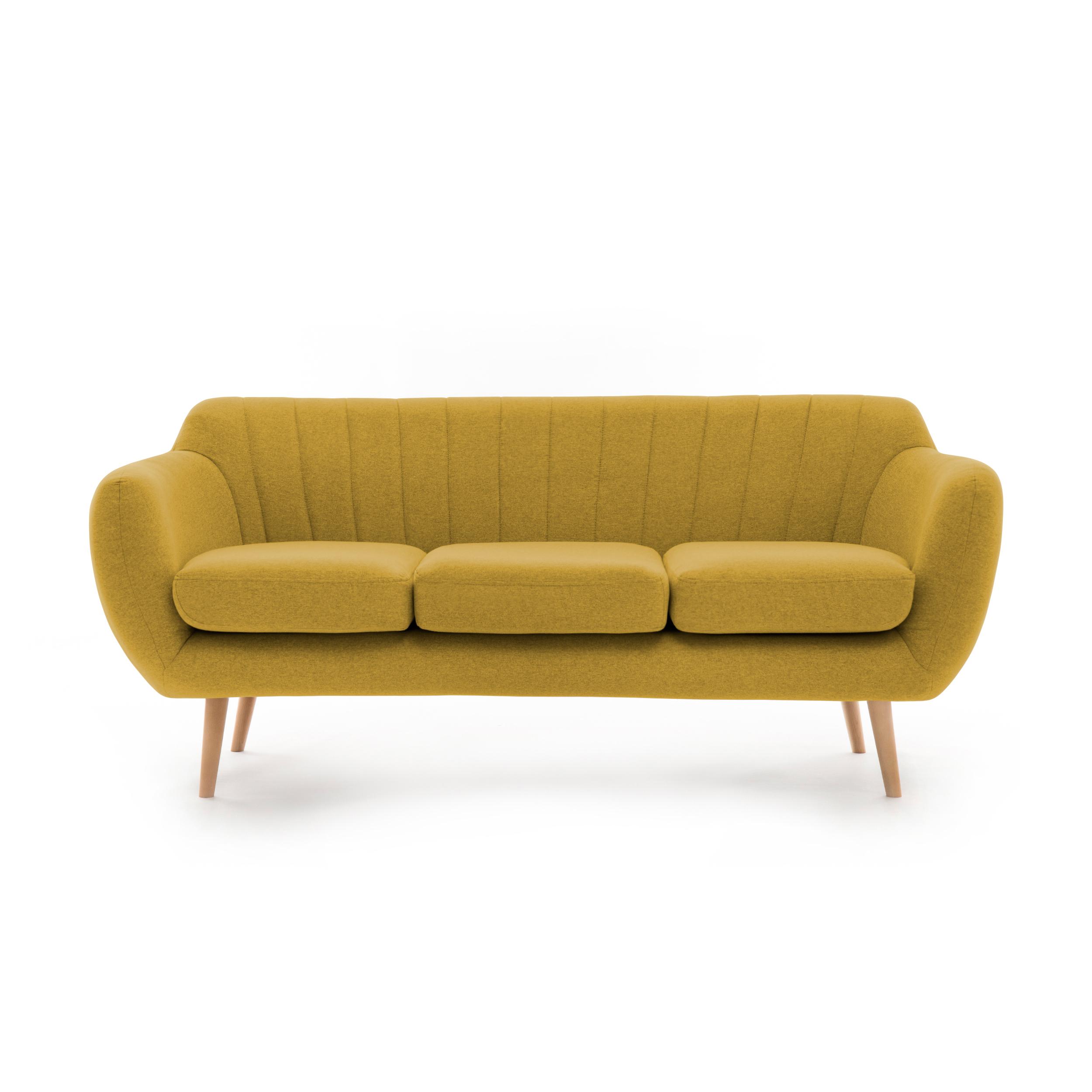Canapea Fixa 3 locuri Kennet Lemon