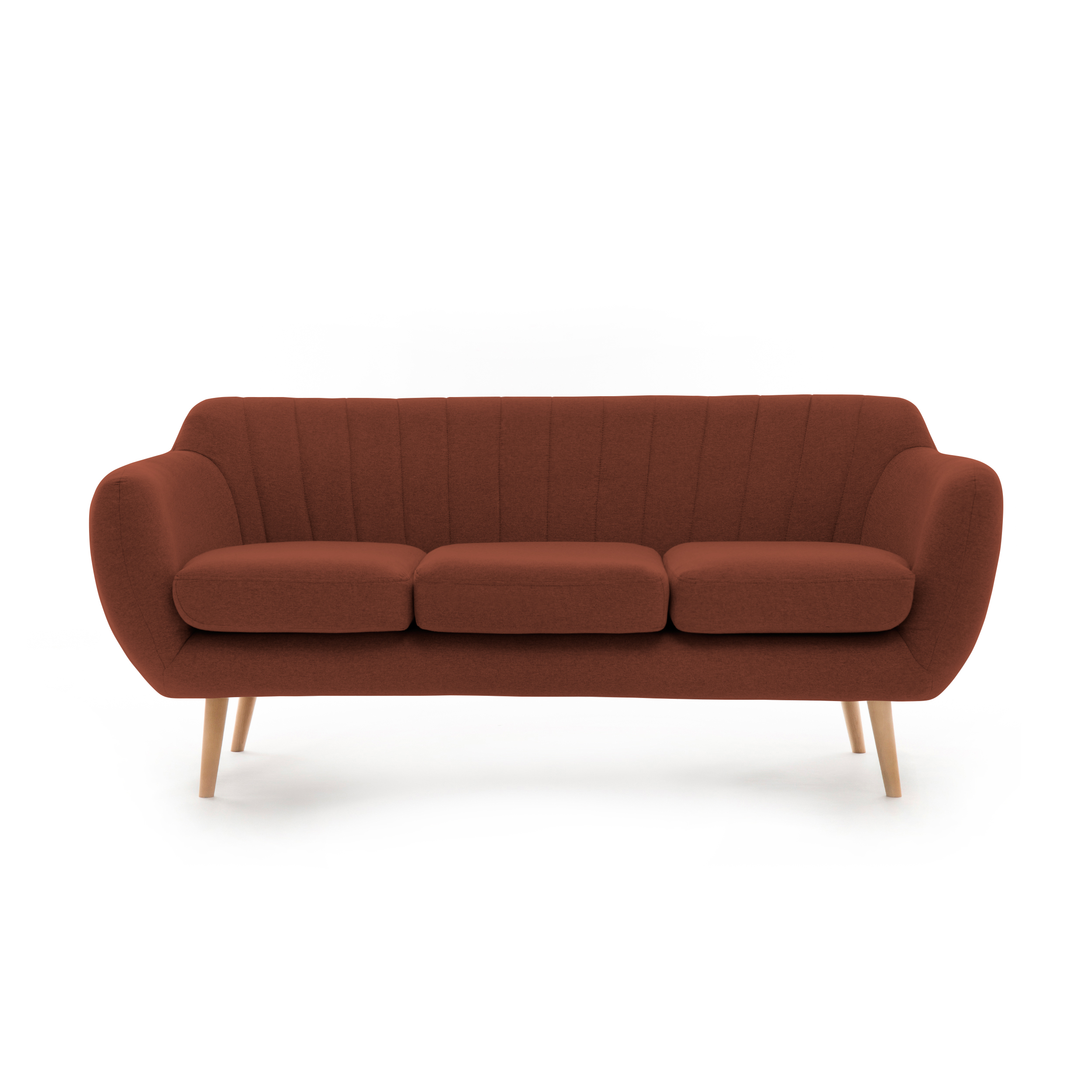 Canapea Fixa 3 locuri Kennet Marsala