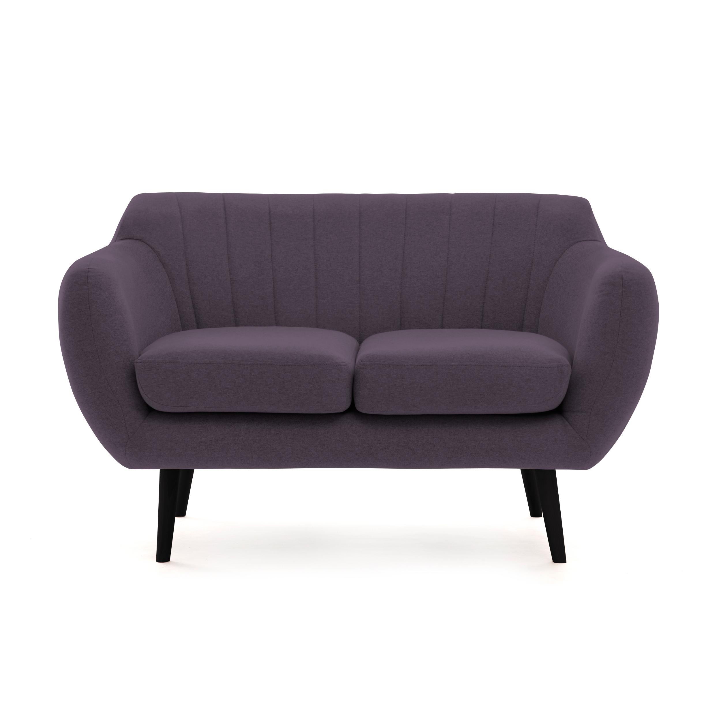 Canapea Fixa 2 locuri Kennet Aubergine II