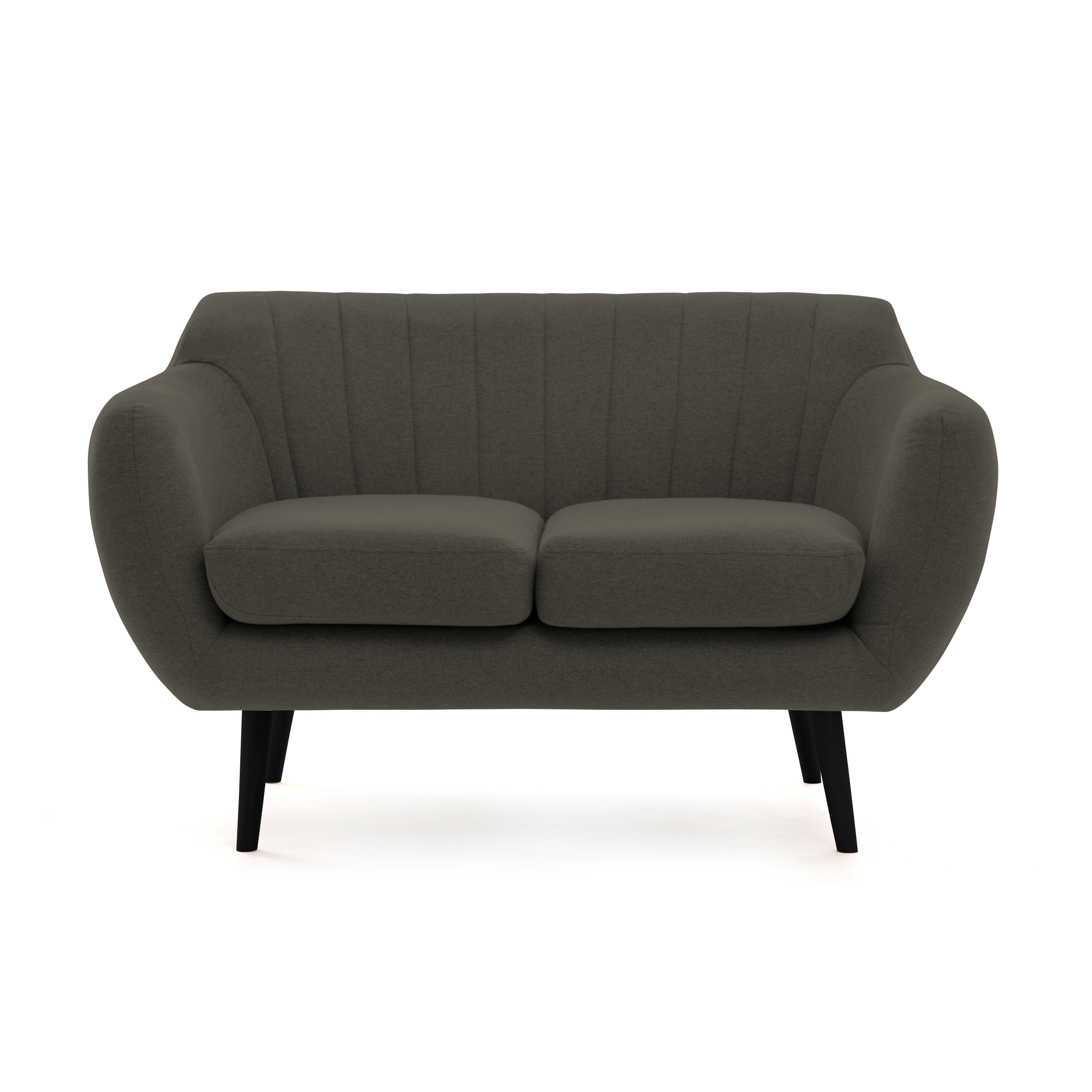 Canapea Fixa 2 Locuri Kennet Dark Grey Ii