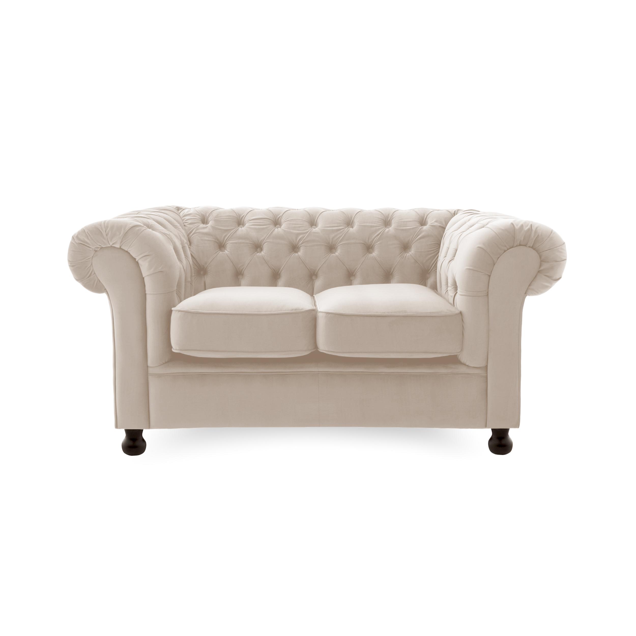 Canapea Fixa 2 locuri Chesterfield Silky Grey