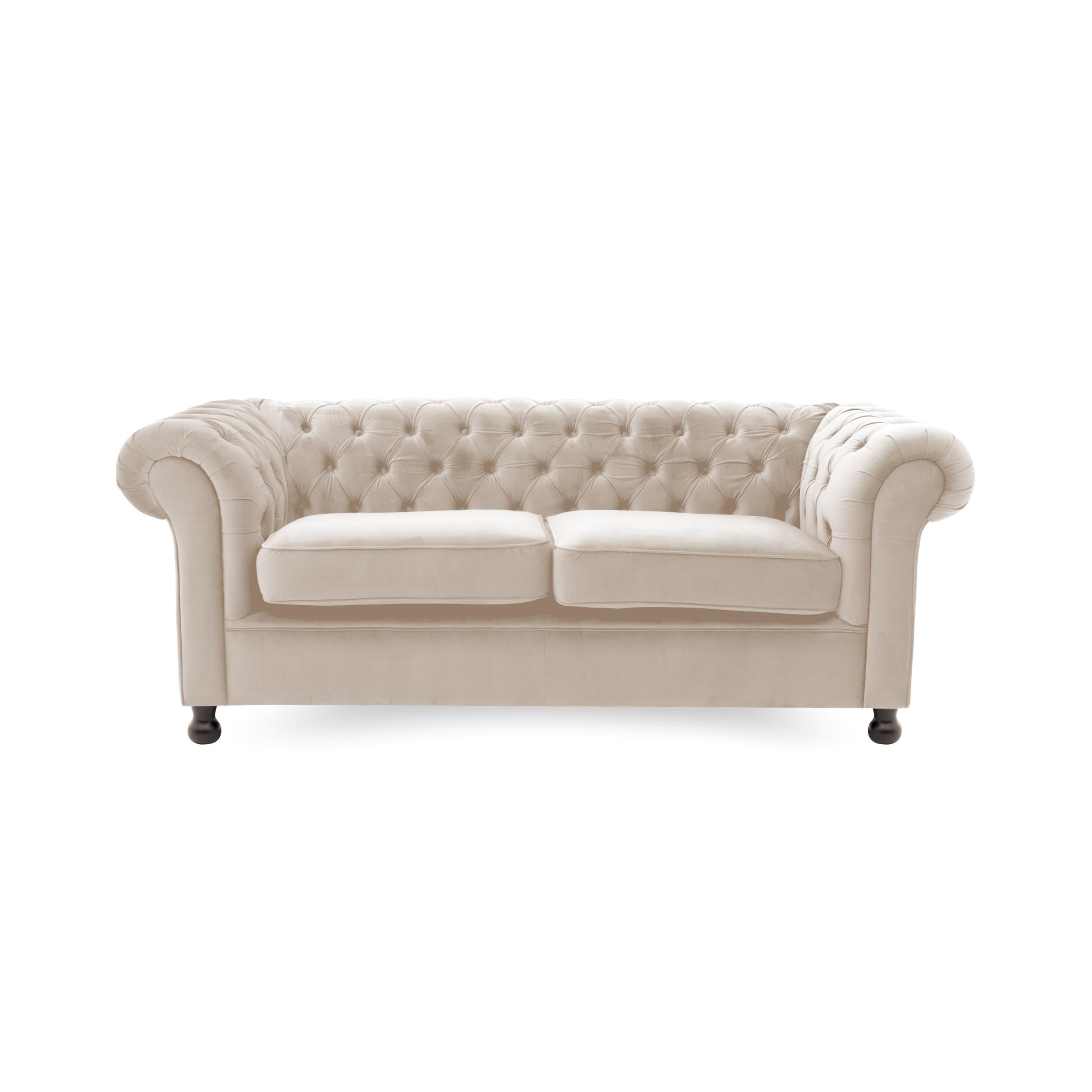 Canapea Fixa 3 locuri Chesterfield Silky Grey