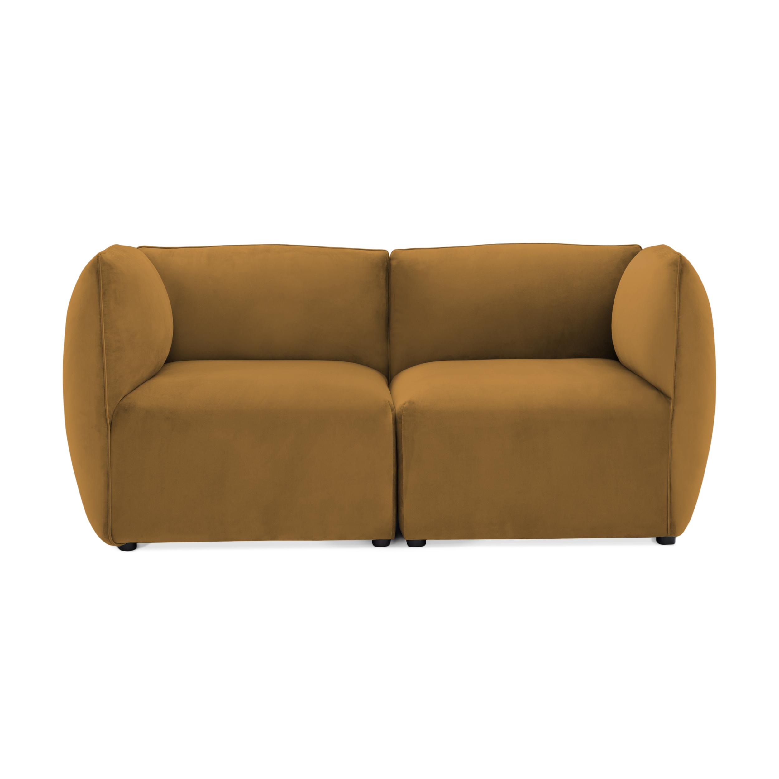 Canapea 2 locuri Cube Mustard