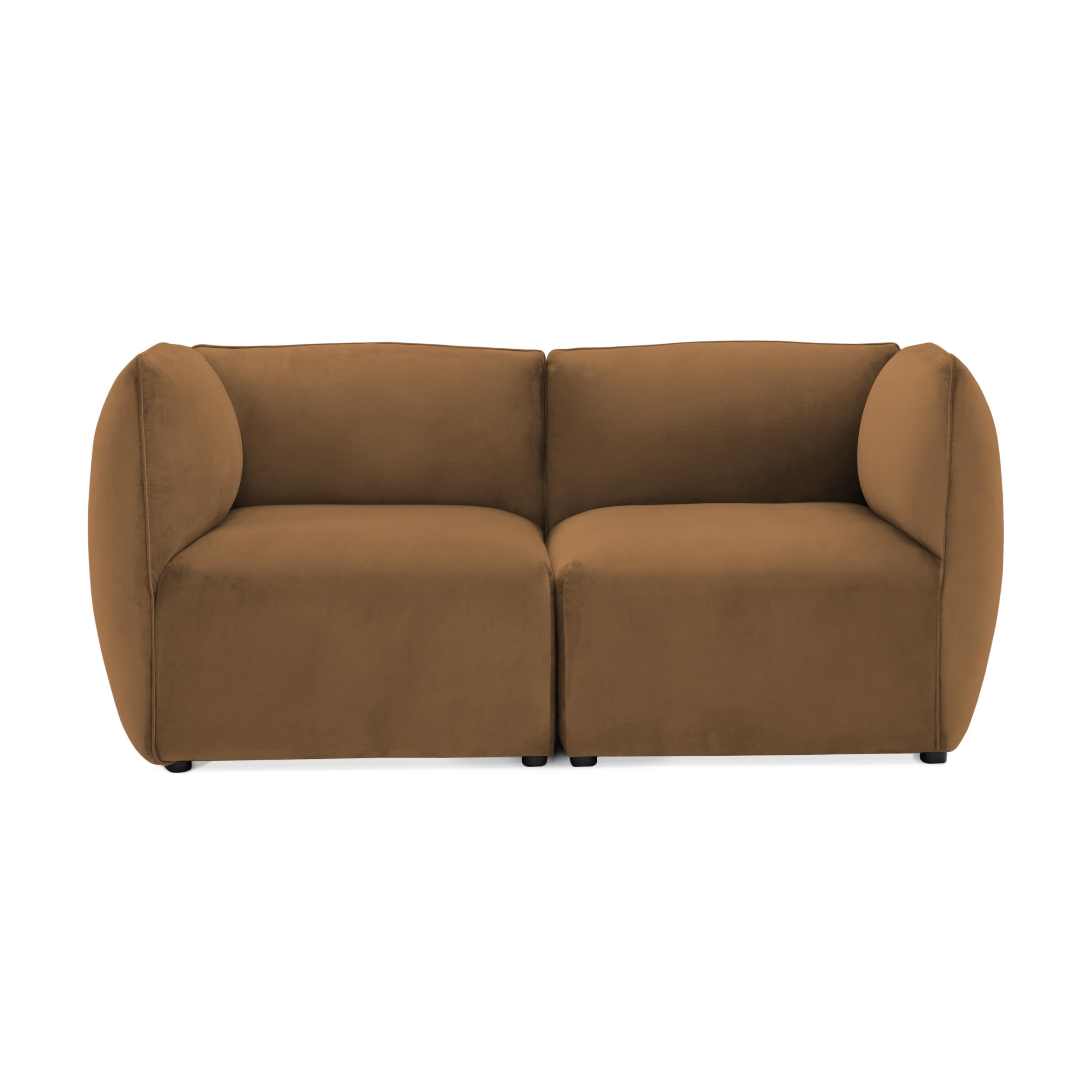 Canapea 2 locuri Cube Tobacco Brown
