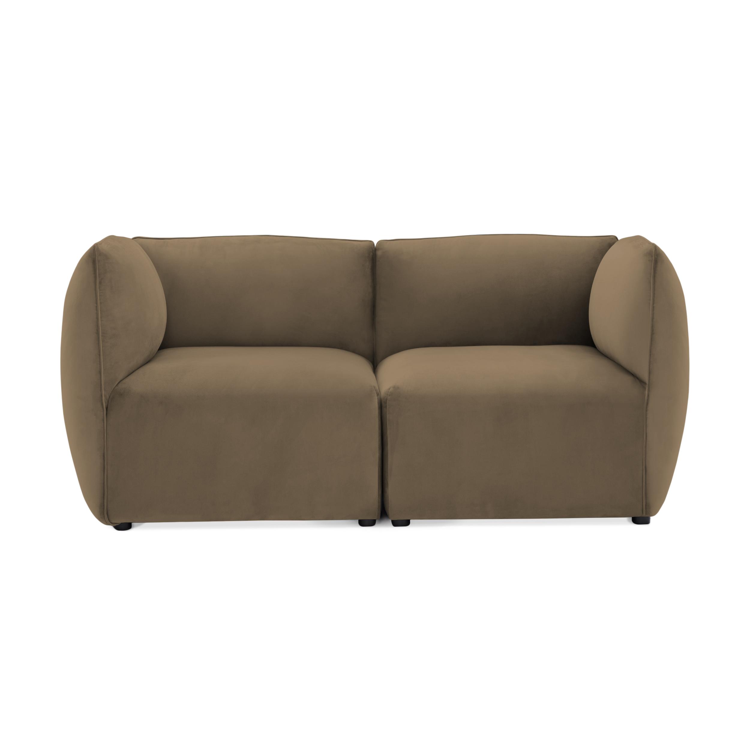 Canapea 2 locuri Cube Taupe