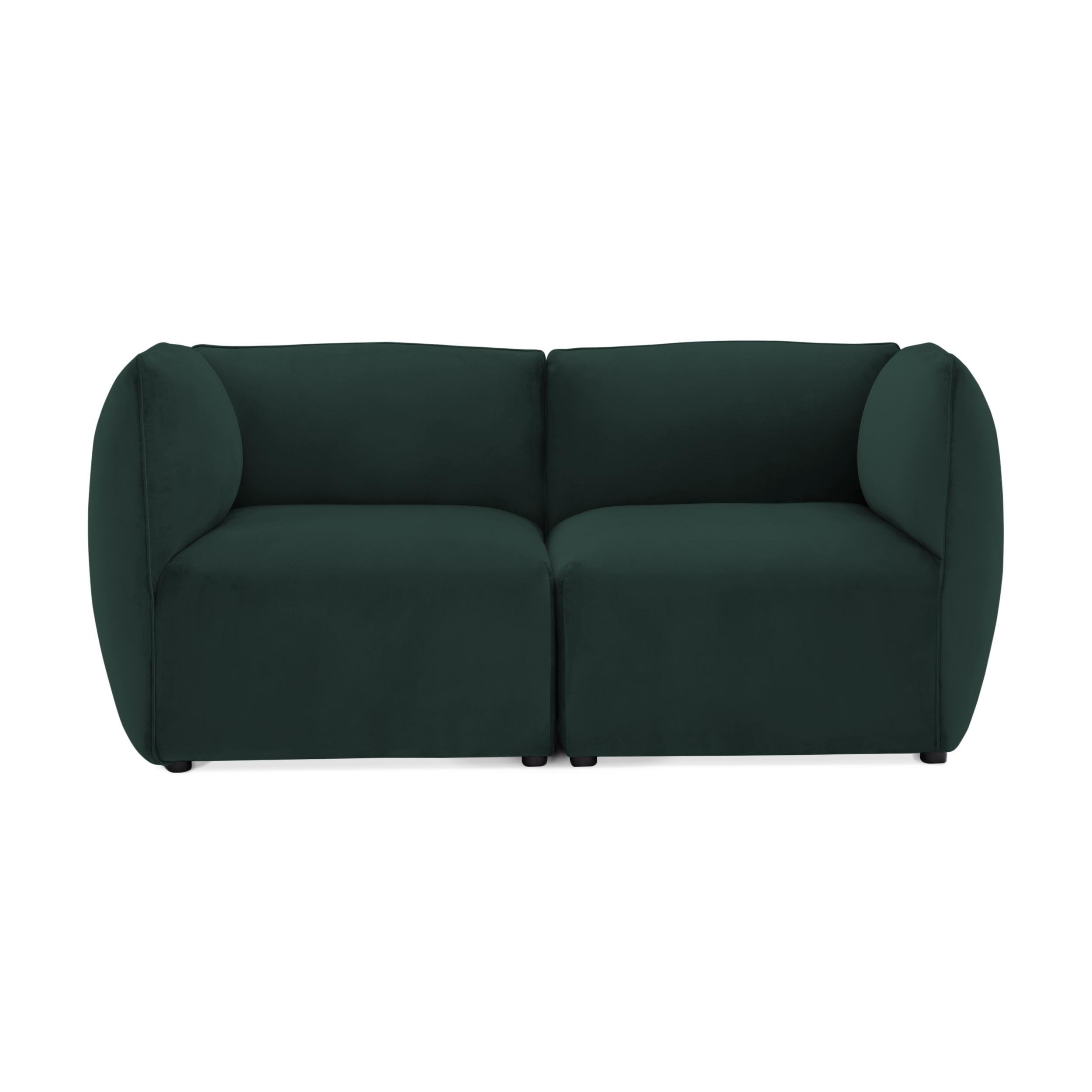 Canapea 2 locuri Cube Petrol Green
