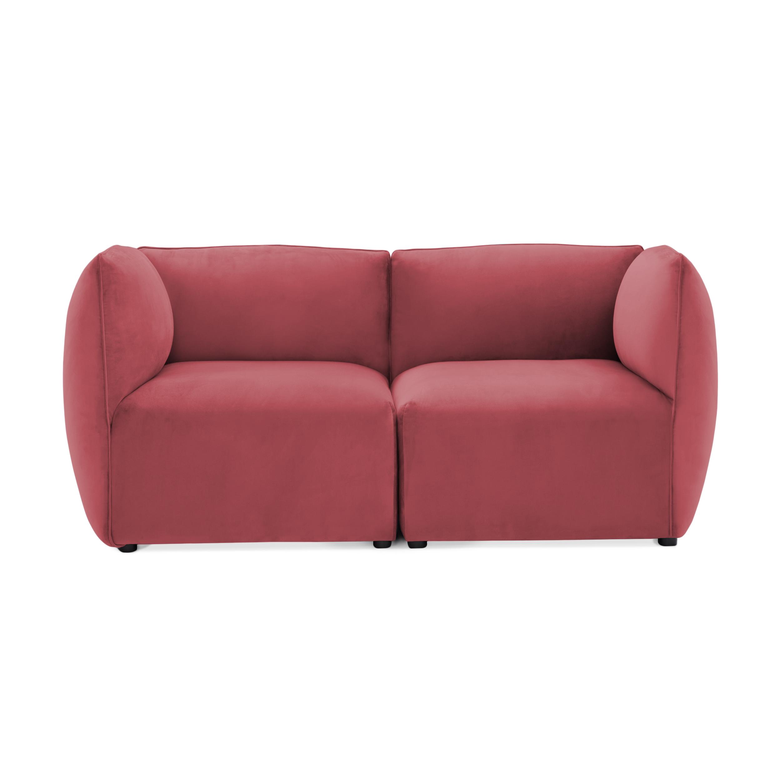 Canapea 2 locuri Cube Rusty Red