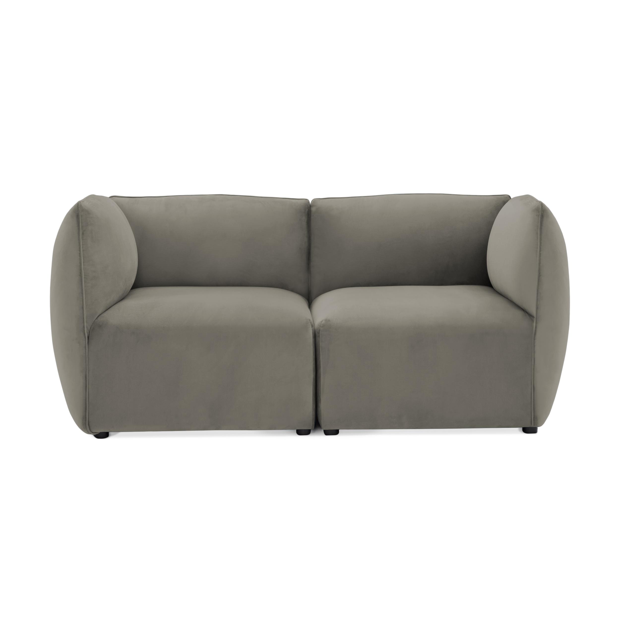 Canapea 2 locuri Cube Silver