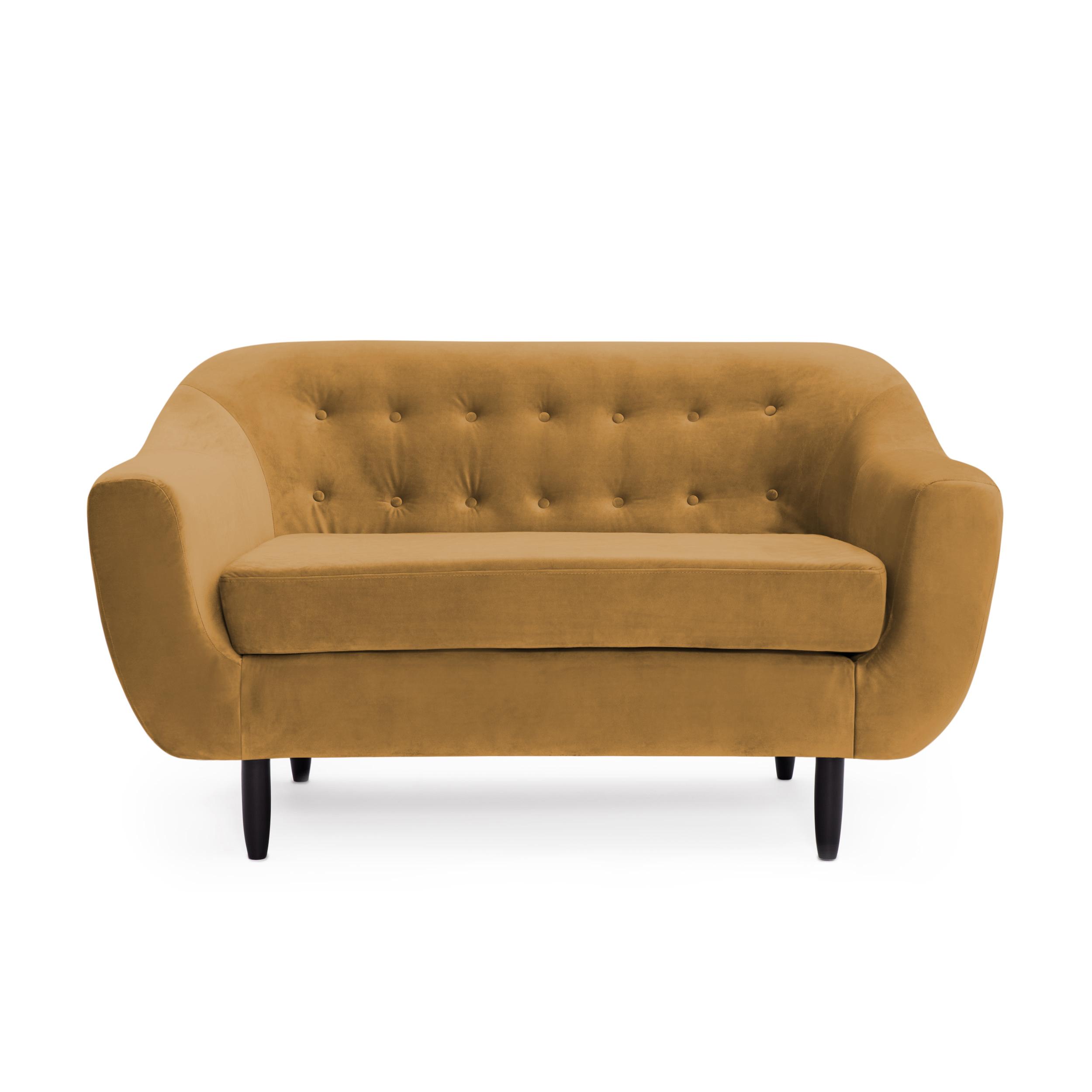 Canapea 2 locuri Laurel Mustard