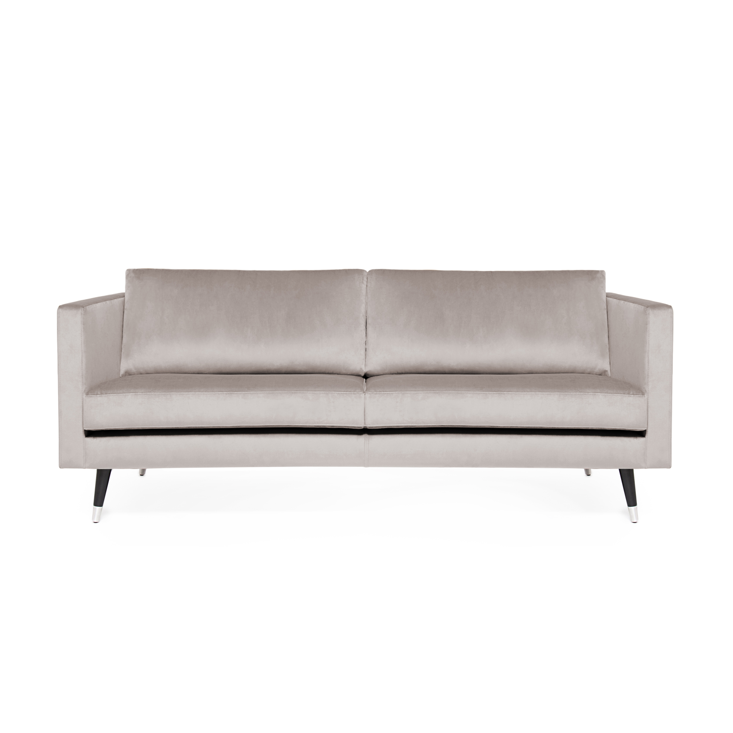Canapea 2 locuri Meyer Velvet Light Grey/Silver