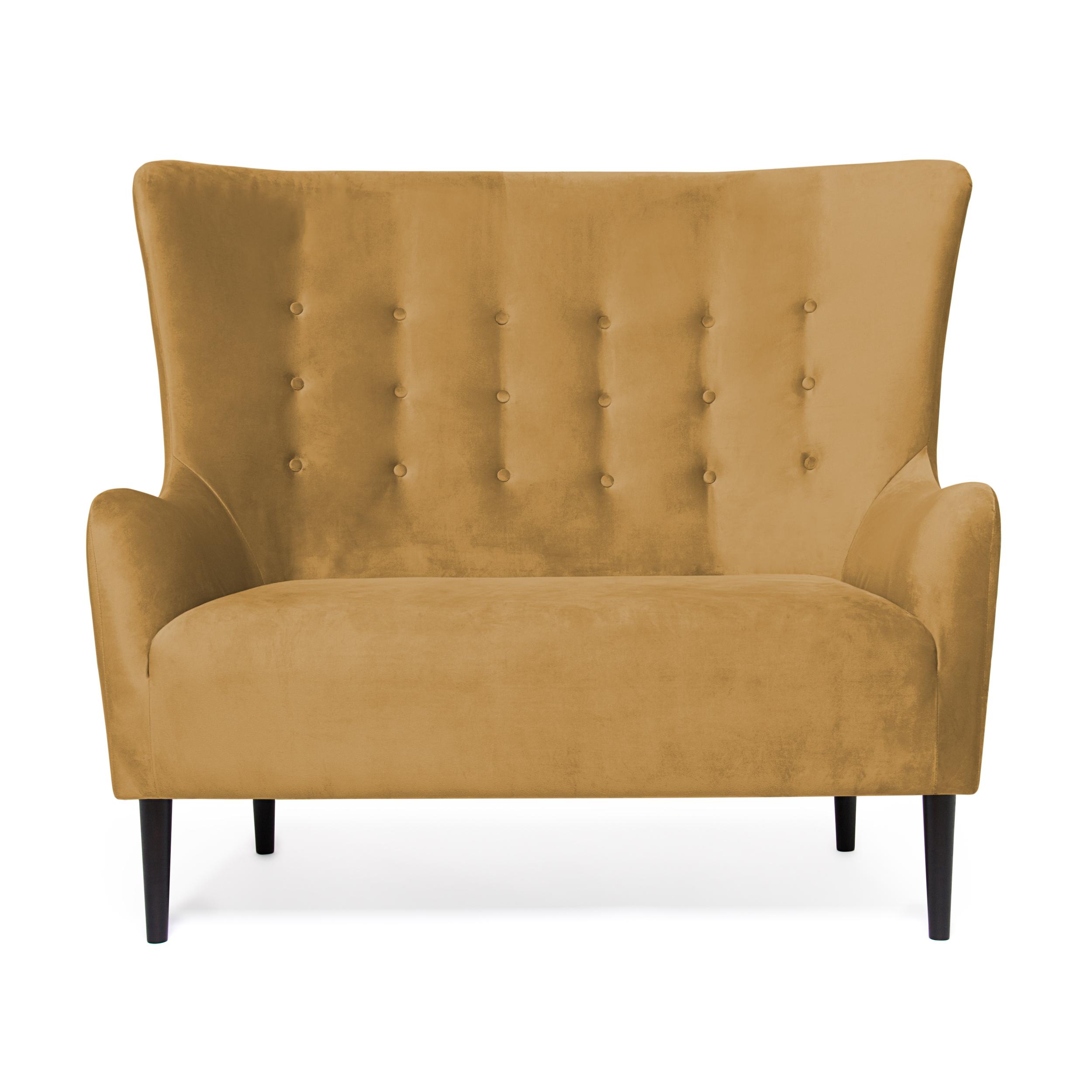 Canapea Fixa 2 locuri Blair Mustard