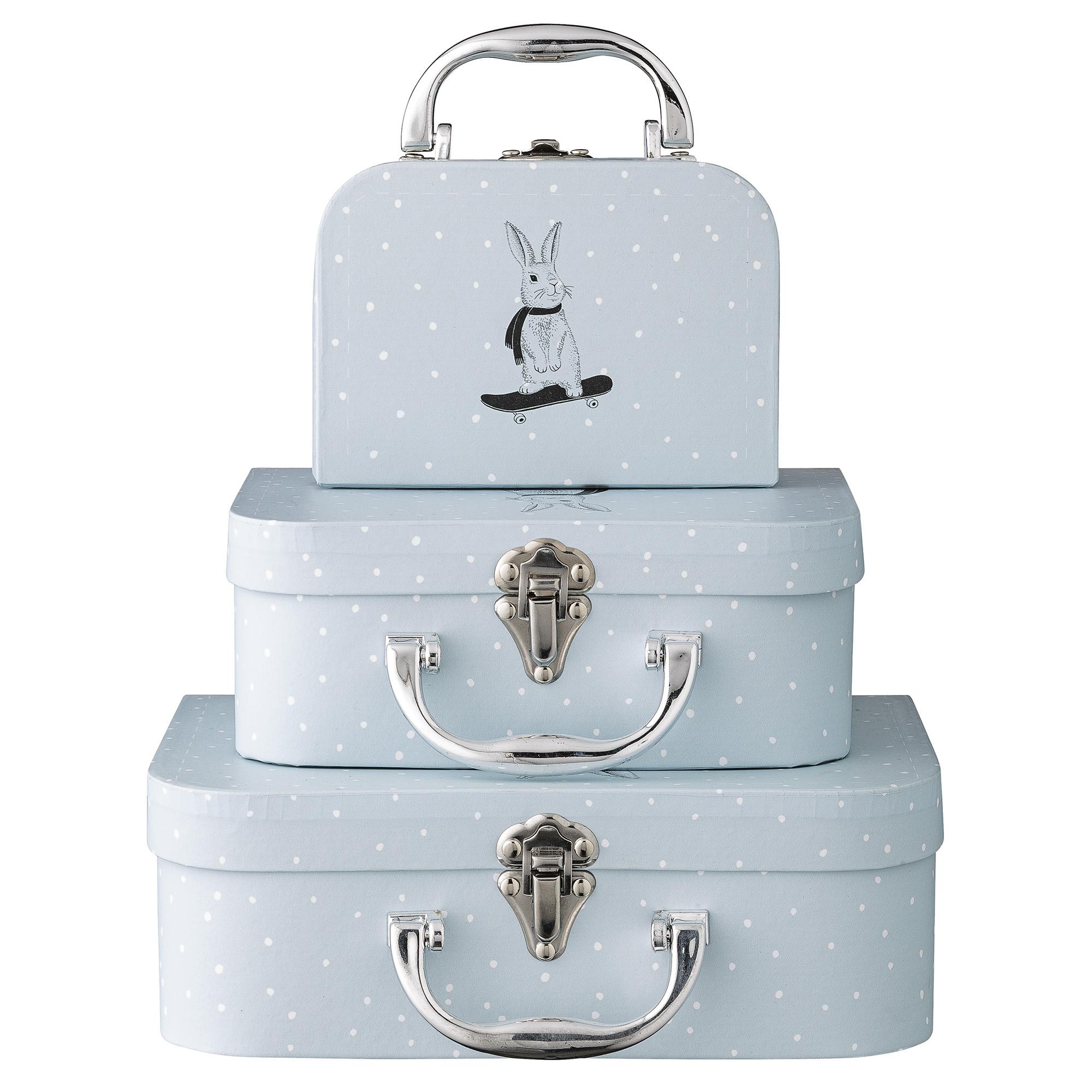 Set 3 valize pentru jucarii Bleu