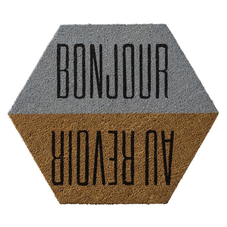 """Pres """""""" Bonjour/Au Revoir """""""" Gri/Maro, l60xL70xH1,5 cm imagine"""