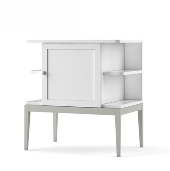 Noptiera din MDF Elle White / Grey l65xA45xH70 cm