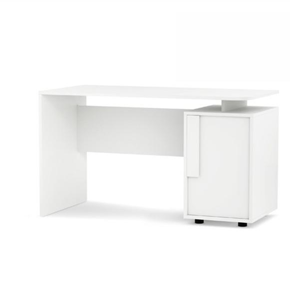 Masa de birou din MDF Click White, L125xl60xh74 cm