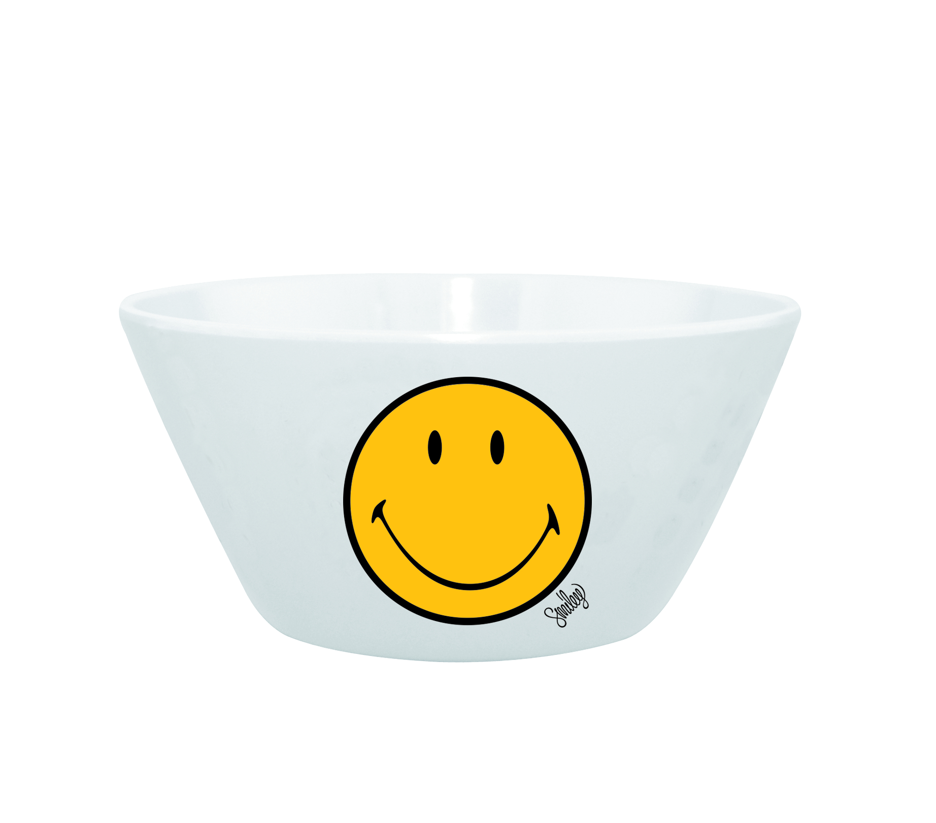 Mini Bol pentru cereale Smiley Galben/Alb, Ø15 cm imagine