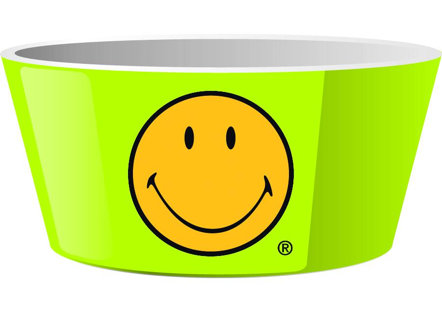 Mini Bol pentru cereale Cereal Smiley Verde, Ø15 cm imagine