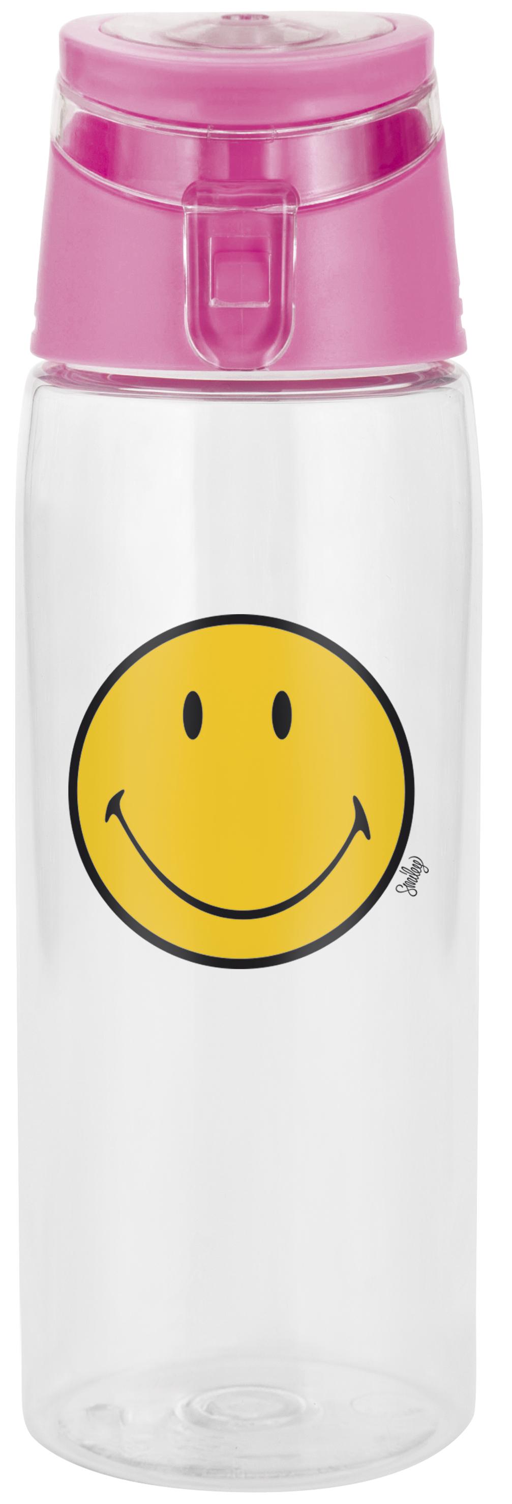 Sticluta pentru copii Smiley Bootle Transparent/Magenta, 750 ml imagine