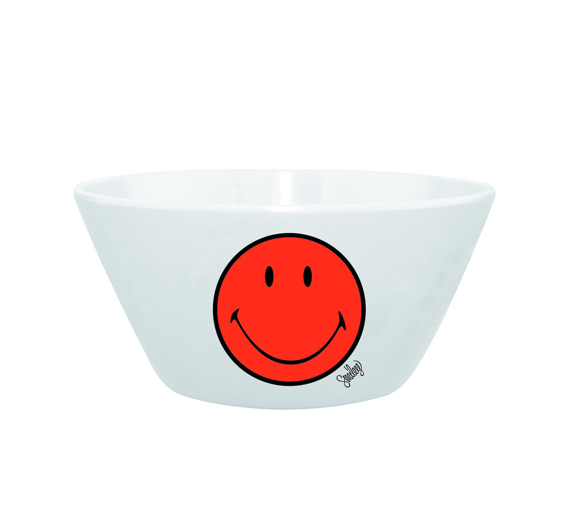 Mini Bol pentru cereale Smiley Portocaliu/Alb, Ø15 cm imagine