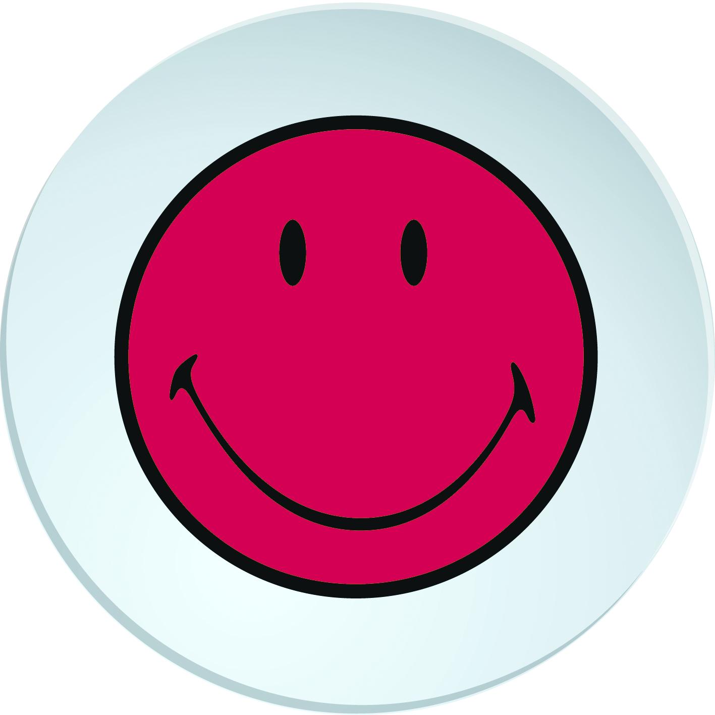 Farfurioara Smiley Deep Visiniu/alb  Ø20 Cm