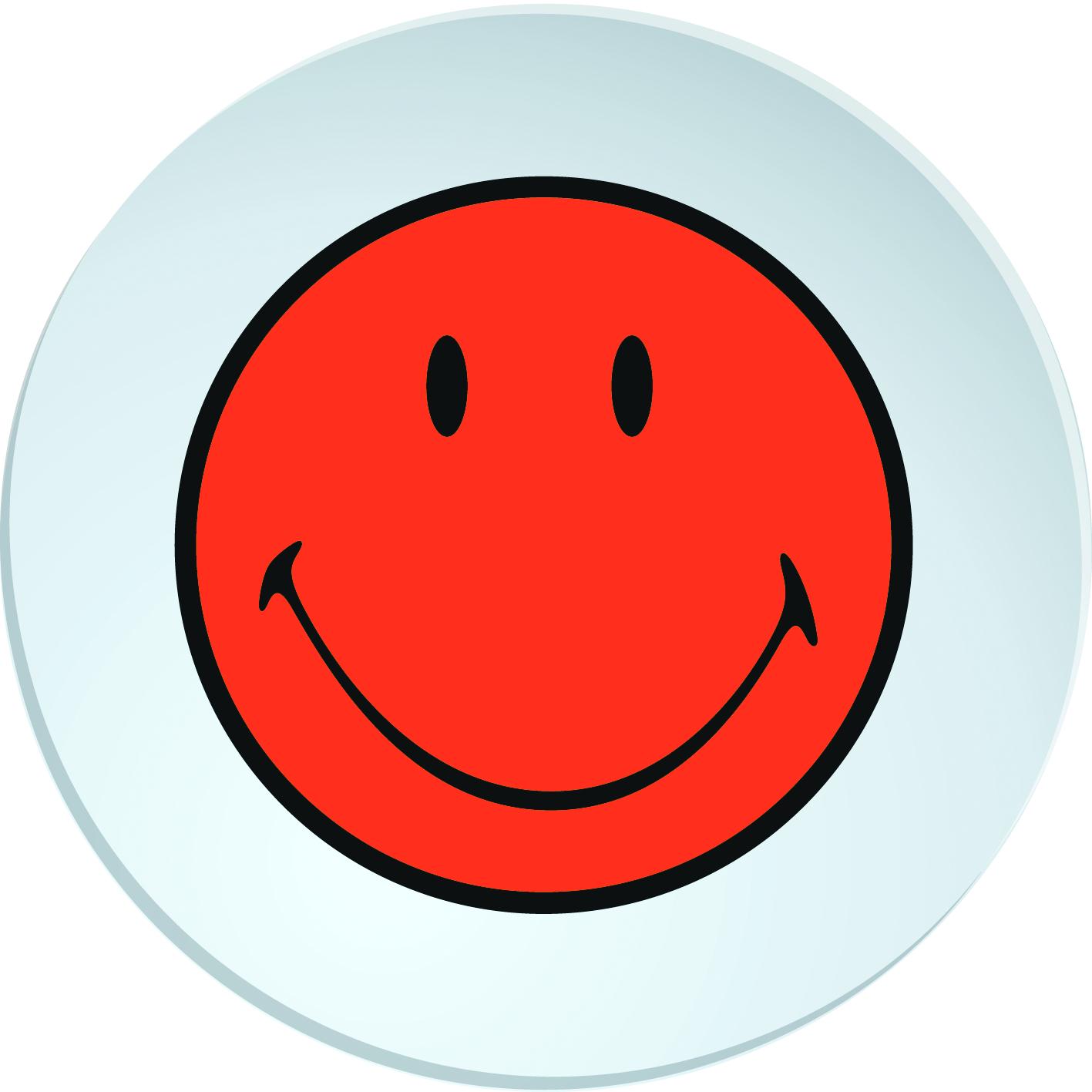 Farfurioara Smiley Deep Portocaliu/Alb, Ø20 cm imagine