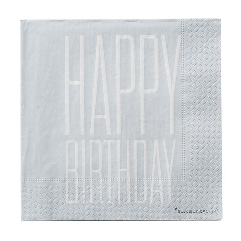 Pachet Servetele  Happy Birthday , l33xL33 , 20 buc/pachet title=Pachet Servetele  Happy Birthday , l33xL33 , 20 buc/pachet