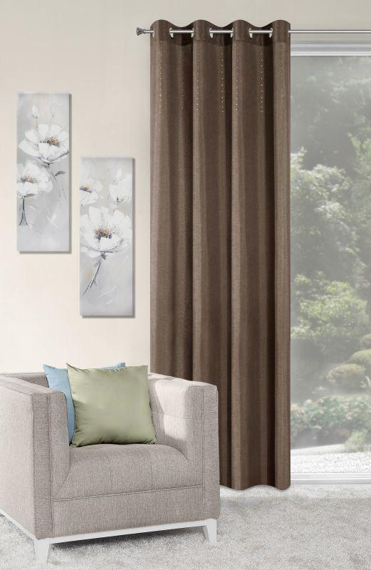 Draperie Alivia 140 x 250 cm 1 bucata Maro