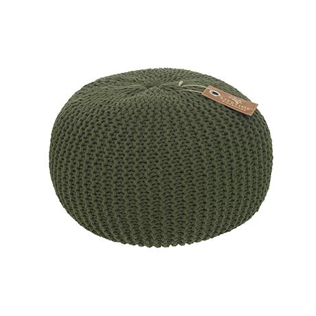 Taburet tricotat pentru copii Adventure Green O 50xH30 cm