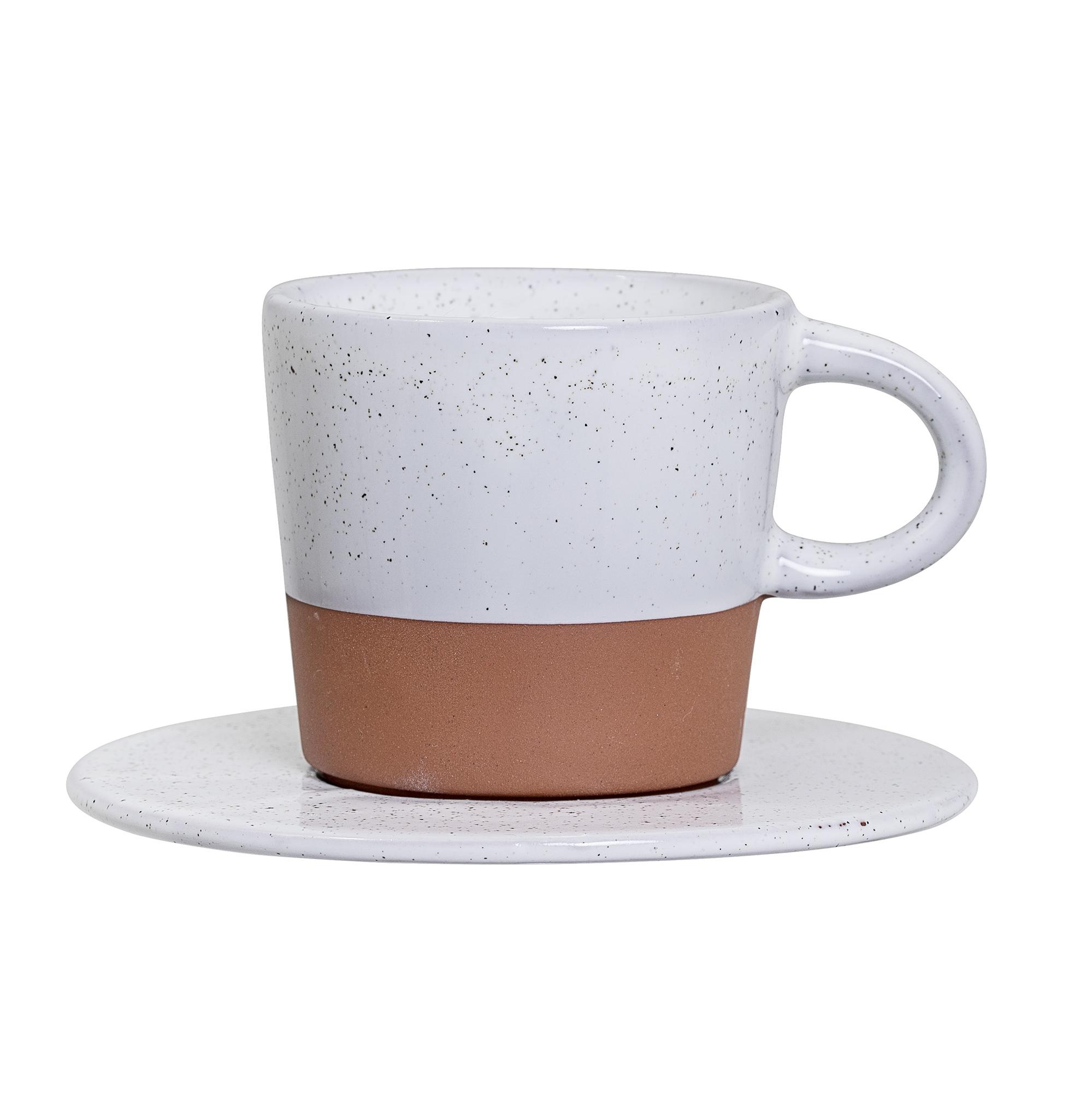 Ceasca cu farfurioara Evelyse Cup Brown