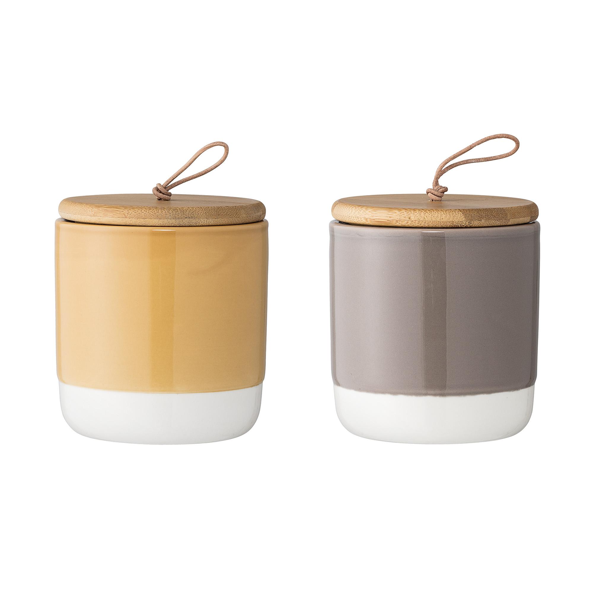 Set 2 recipiente pentru depozitare Multi-color O10xH11 cm 590 ml