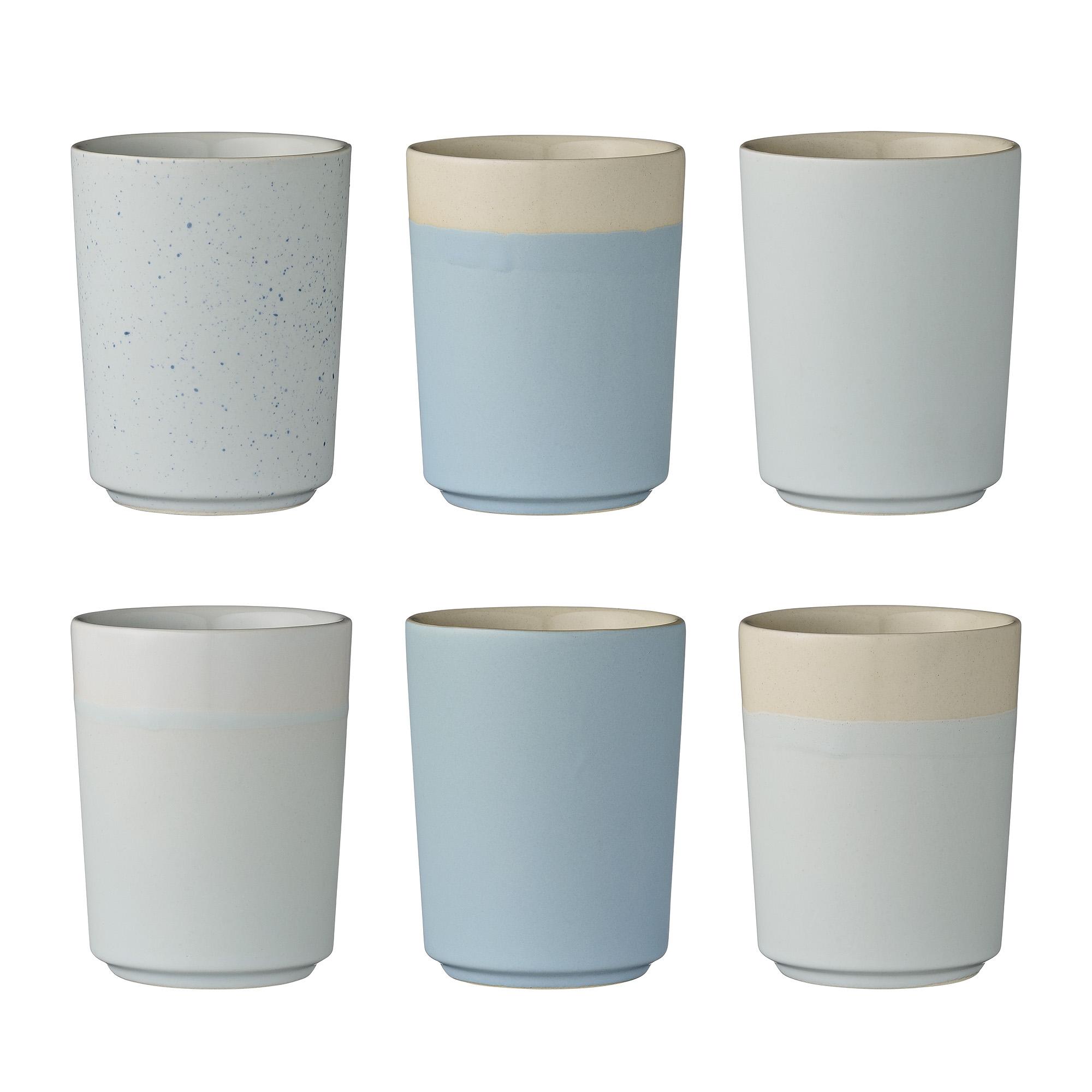 Set 6 Cesti Bleu, Ø7,5xH9,5 cm