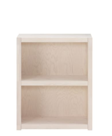 Biblioteca din lemn cu 1 Raft Whitewash Ivory l666xA35xH82 cm