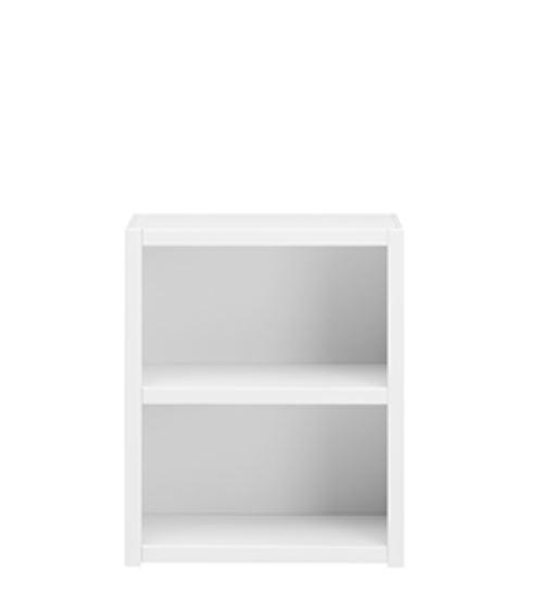 Biblioteca din lemn cu 1 Raft White l666xA35xH82 cm