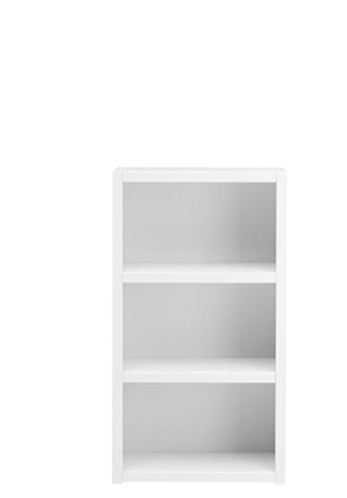 Biblioteca din lemn cu 2 Rafturi White l666xA35xH120 cm