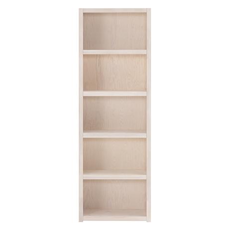 Biblioteca din lemn cu 4 Rafturi Whitewash Ivory l666xA35xH197 cm