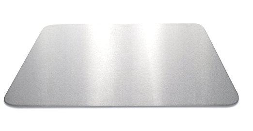 Set 2 Placi Sticla Protectie Aragaz si Plita Silver 50 x 40 cm