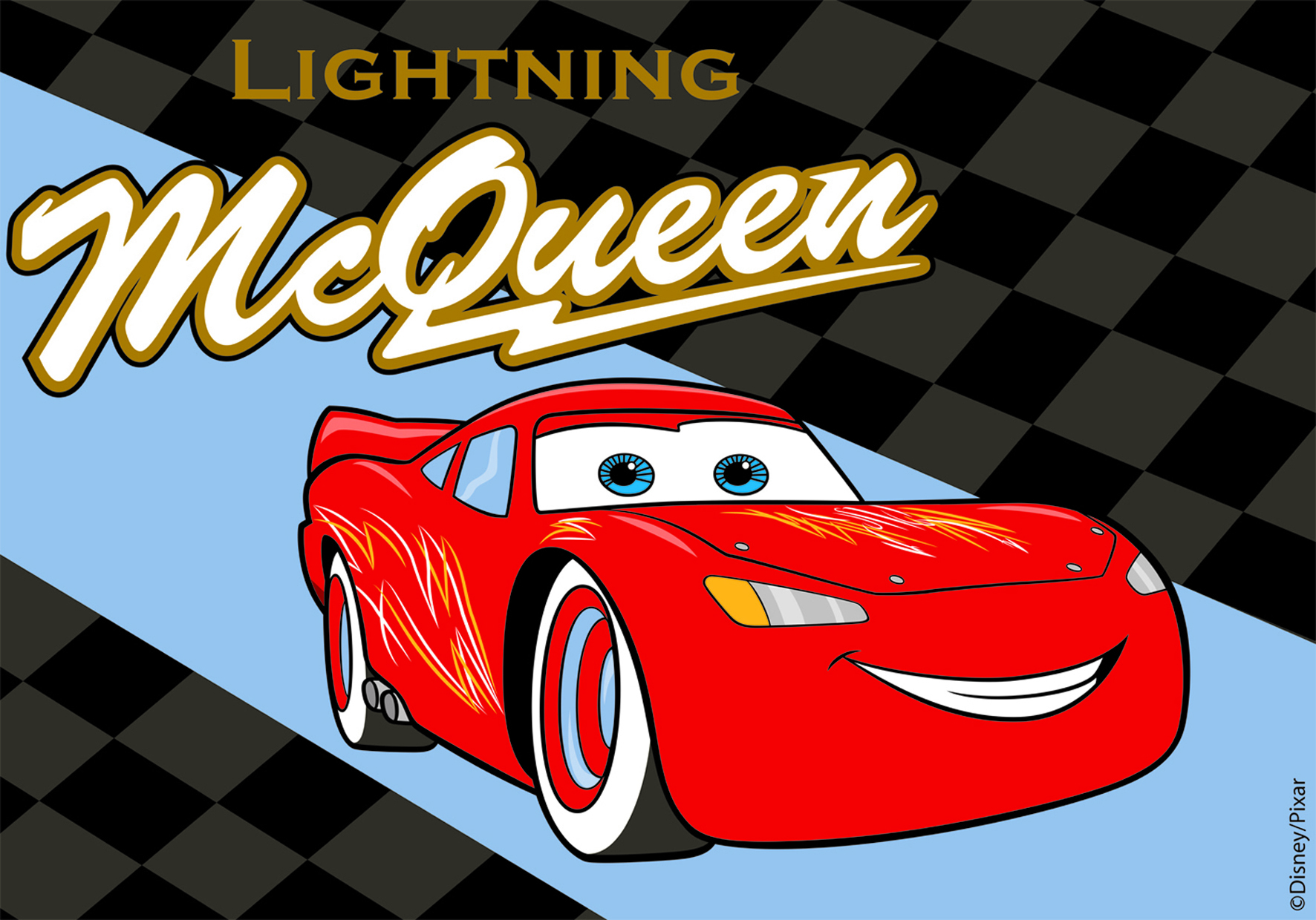 Covor Disney Kids McQueen Lightning, Imprimat Digital