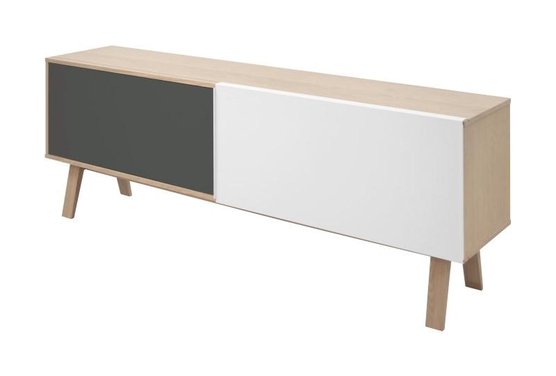 Consola Miso White/Anthracite, L190xl41xh70 cm