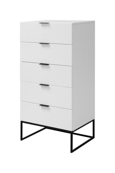 Cabinet cu 5 sertare Kobe White