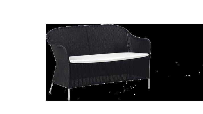 Canapea din rattan Athene Black