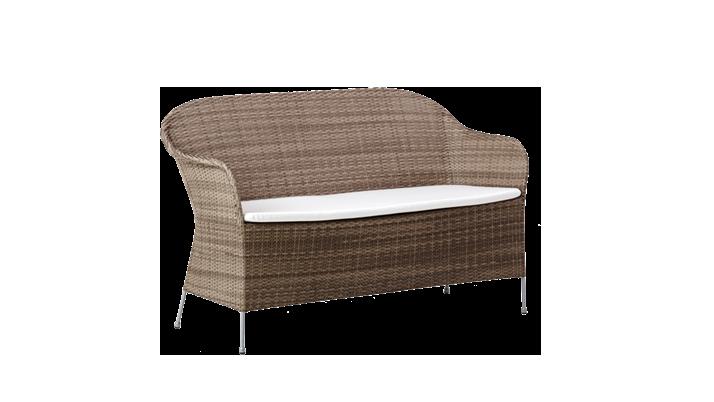 Canapea din rattan Athene Grey