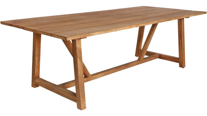 Masa din lemn de Tec George L240xl100xh725 cm
