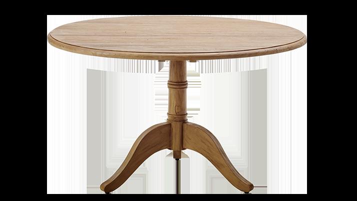 Masa dining din lemn de tec Michel O120xh72 cm