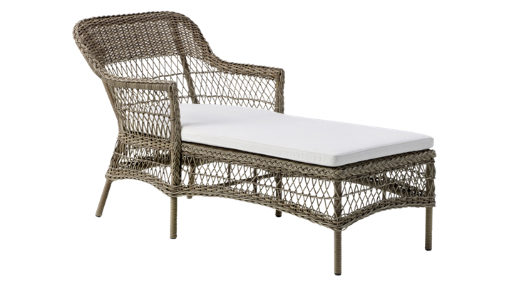 Sezlong din rattan Liv Antique
