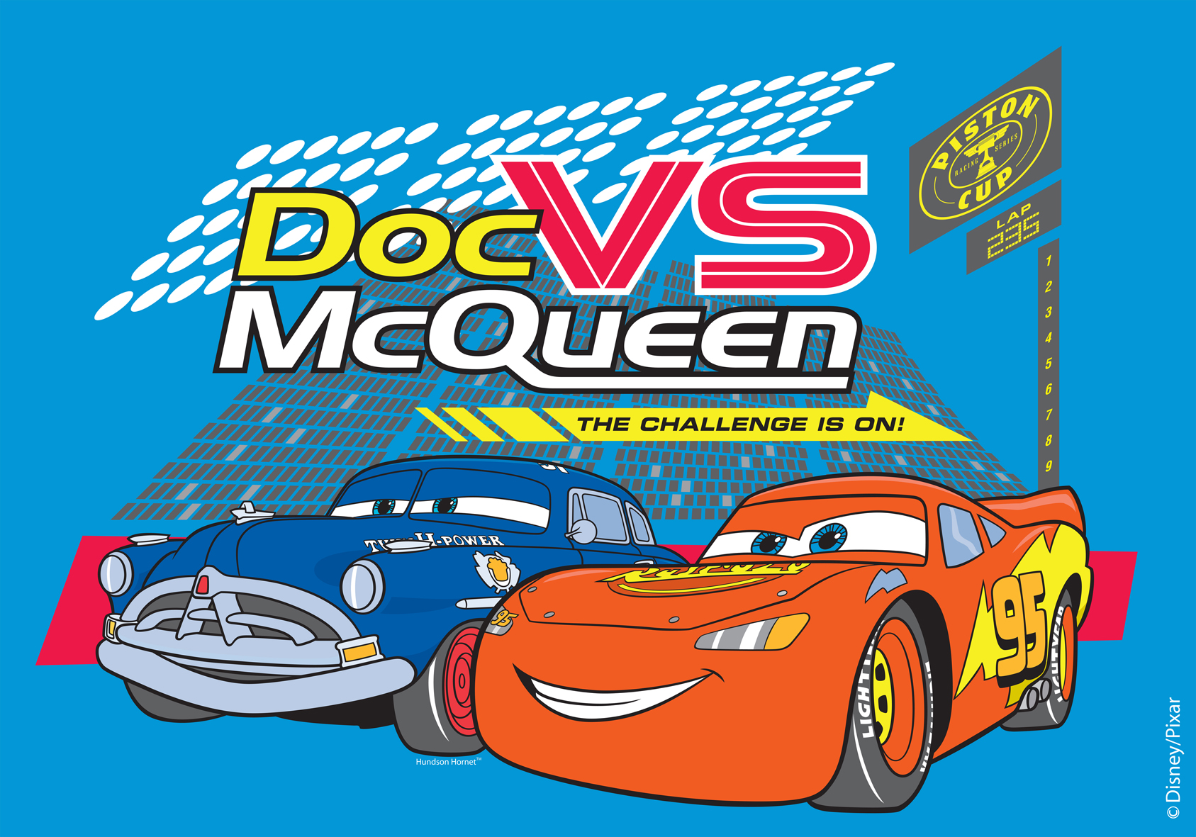 Covor Disney Kids Doc Vs McQueen, Imprimat Digital-133 x 190 cm