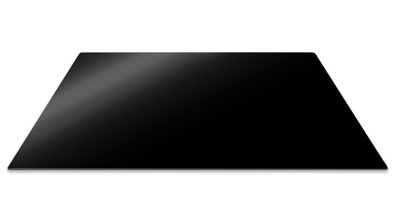 Set 3 Placi Sticla Protectie Aragaz Si Plita, Black, 57 X 50 Cm