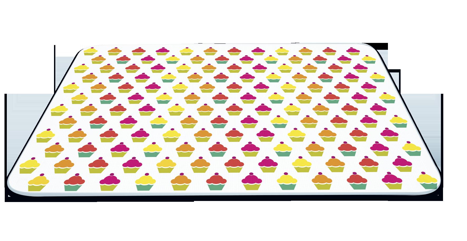 Set 2 Placi Sticla Protectie Aragaz si Plita, Cup Cake, 40 x 30 cm