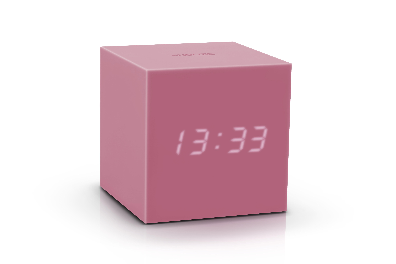 Ceas inteligent cu senzor de alarma Gravity Cube Click Clock Pink