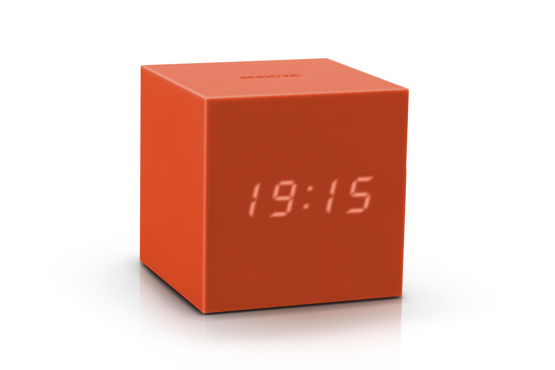 Ceas inteligent cu senzor de alarma Gravity Cube Click Clock Orange