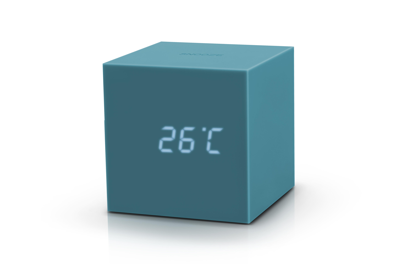 Ceas inteligent cu senzor de alarma Gravity Cube Click Clock Teal